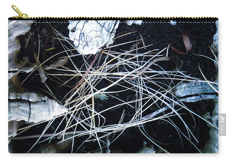 Tamara Kulish Carry-all Pouch featuring the photograph How A Log Builds A Nest by Tamara Kulish