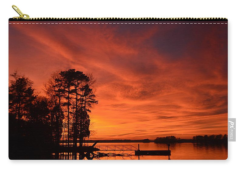 Sunsets Carry-all Pouch featuring the photograph How Awesome Is He by Lisa Wooten