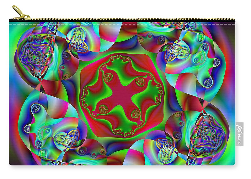 Abstract Carry-all Pouch featuring the digital art Howdowning by Andrew Kotlinski