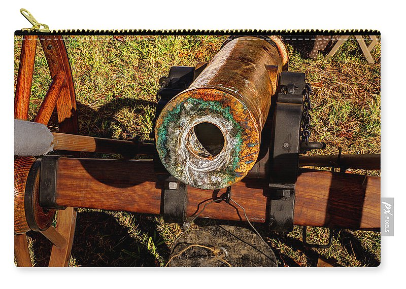 Howitzer Carry-all Pouch featuring the photograph Howitzer Battle Of Honey Springs by John Straton