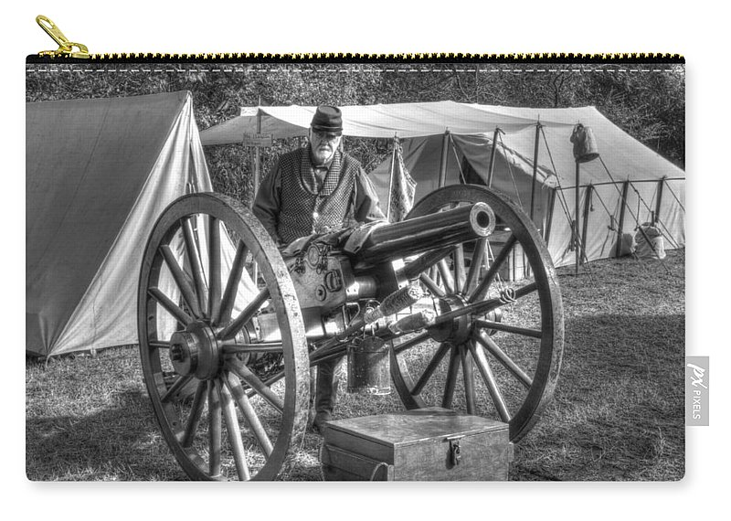 Howitzer Carry-all Pouch featuring the photograph Howitzer Battle Of Honey Springs V4 by John Straton