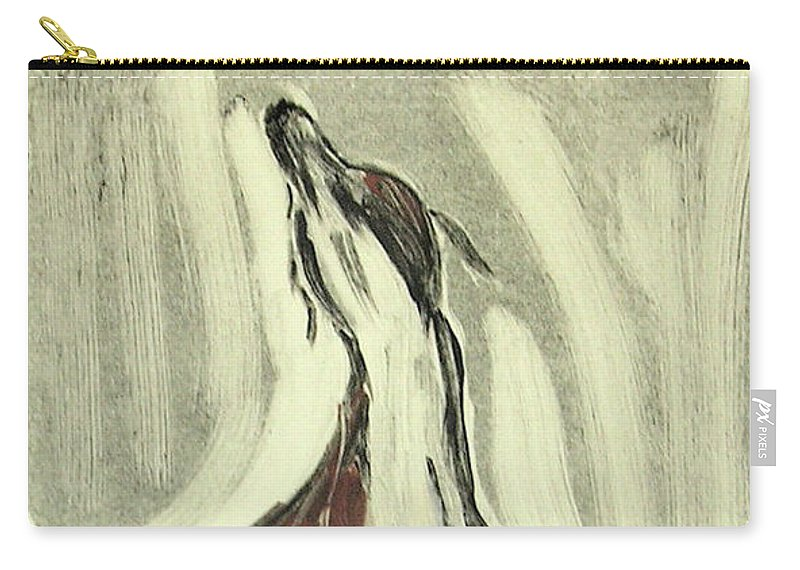 Monotype Carry-all Pouch featuring the mixed media Howling For Joy by Cori Solomon