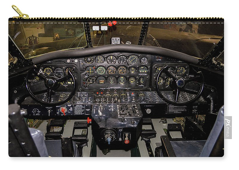 2013 Carry-all Pouch featuring the photograph Hu-16b Albatross Cockpit by Tommy Anderson
