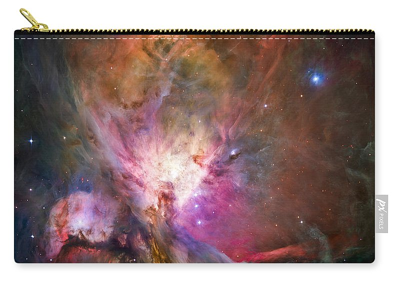 3scape Carry-all Pouch featuring the photograph Hubble's Sharpest View Of The Orion Nebula by Adam Romanowicz