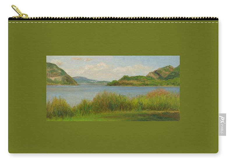 Oil Landscape Carry-all Pouch featuring the painting Hudson From Cold Spring by Phyllis Tarlow