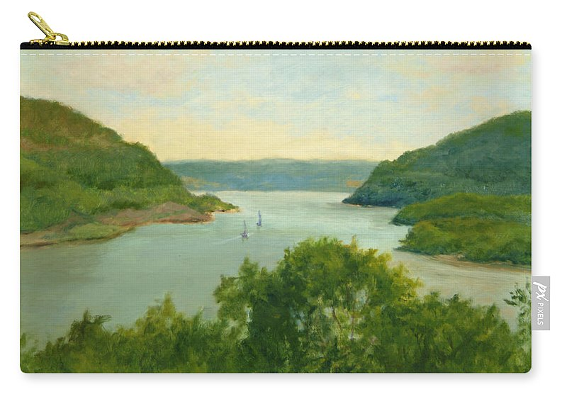 Hudson River Carry-all Pouch featuring the painting Hudson River From Bear Mt. by Phyllis Tarlow