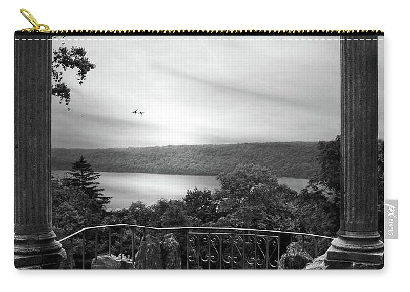 Black Carry-all Pouch featuring the photograph Hudson River Views by Jessica Jenney