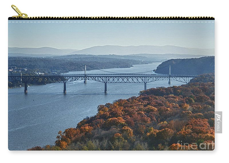 Hudson River Carry-all Pouch featuring the photograph Hudson Valley by Claudia Kuhn
