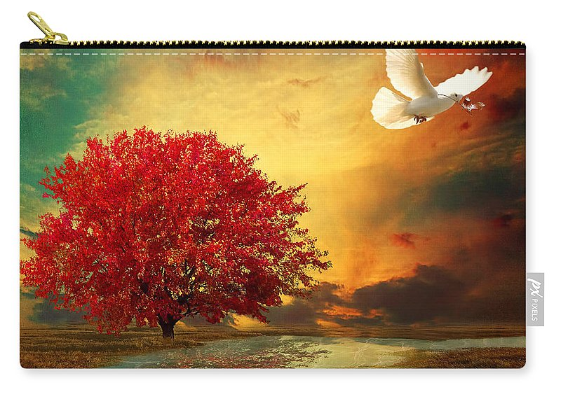 Maple Tree Carry-all Pouch featuring the photograph Hued by Lourry Legarde