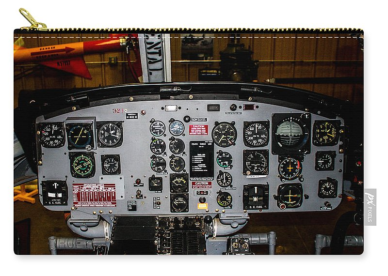 Bell Uh-1b Huey Carry-all Pouch featuring the photograph Huey Instrument Panel by Tommy Anderson