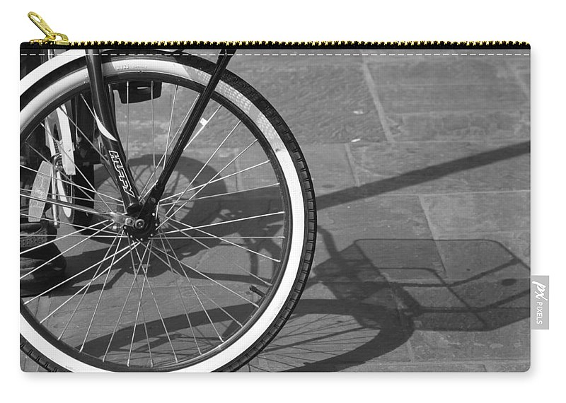 Bicycle Carry-all Pouch featuring the photograph Huffy Shadow by Lauri Novak