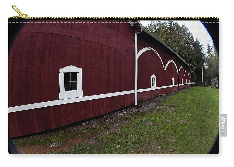 Clay Carry-all Pouch featuring the photograph Huge Barn by Clayton Bruster