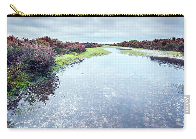 Svetlana Sewell Carry-all Pouch featuring the photograph Huge Puddle by Svetlana Sewell