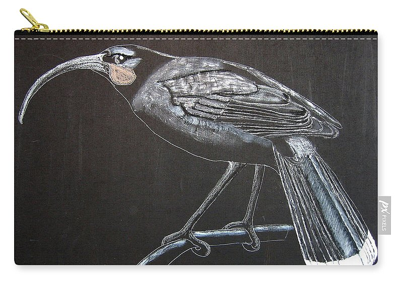 Huia Carry-all Pouch featuring the painting Huia by Richard Le Page