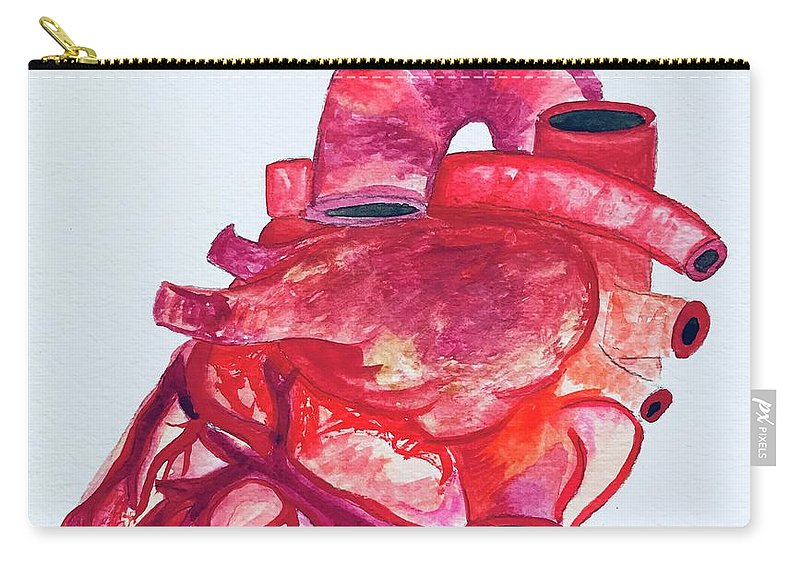 Heart Carry-all Pouch featuring the painting Human Heart Pa by Taylor White