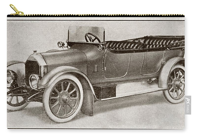 Auto Carry-all Pouch featuring the drawing Humber 14 Hp Model Of 1914. From La by Vintage Design Pics