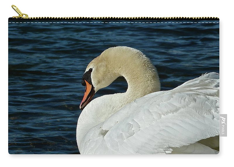 Swan Carry-all Pouch featuring the photograph Humble Beauty by Diana Hatcher