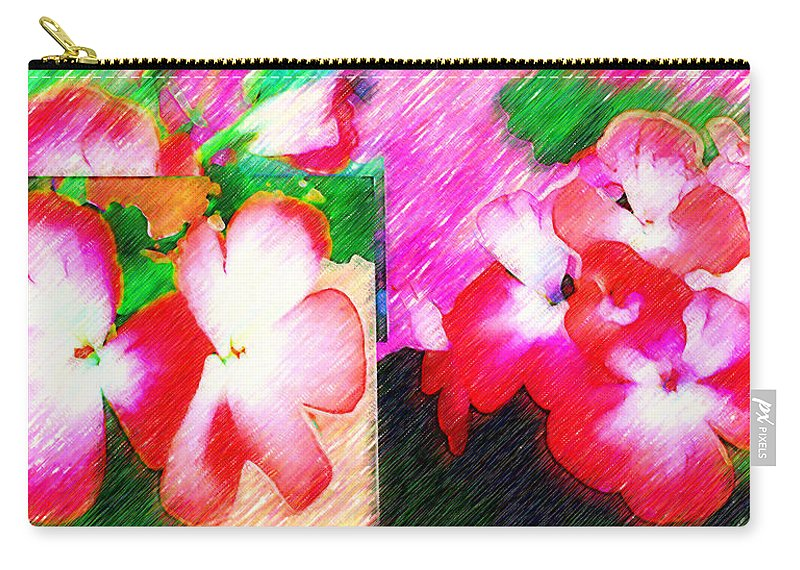 Geranios Rojos Carry-all Pouch featuring the photograph Humble Beauty by Madalena Lobao-Tello