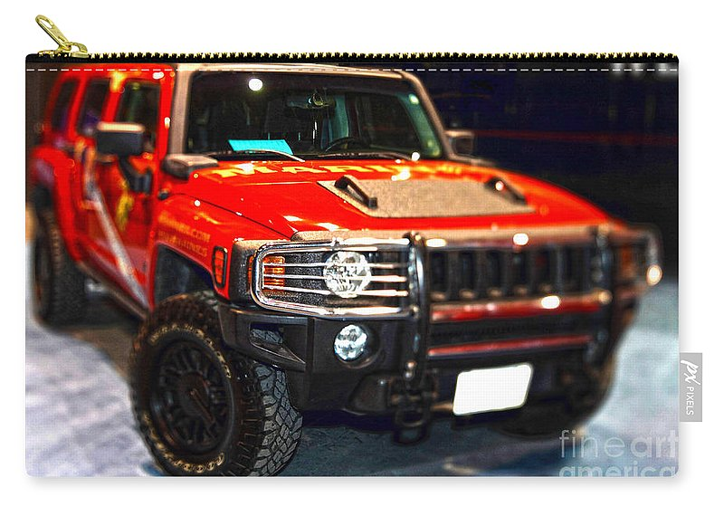 Auto Carry-all Pouch featuring the photograph Hummer - Marine Recruiting by Alan Look