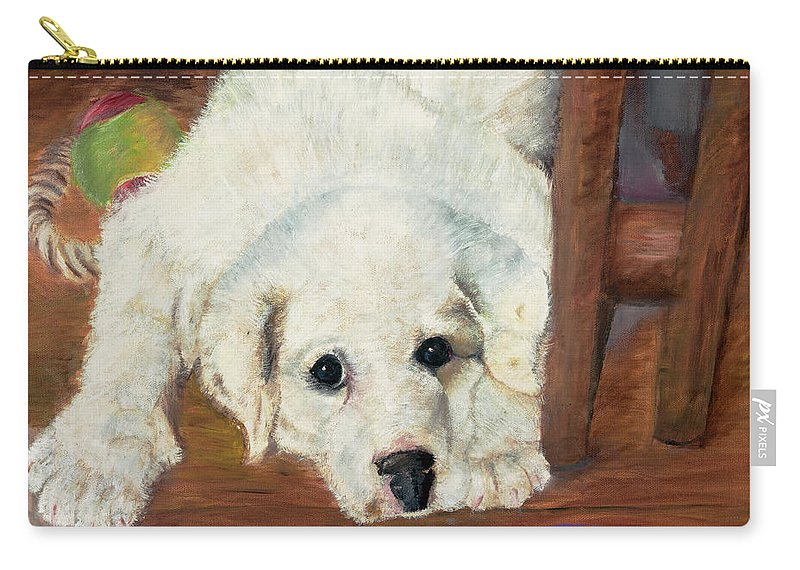 Dog Carry-all Pouch featuring the painting Hummer by Terry Lewey