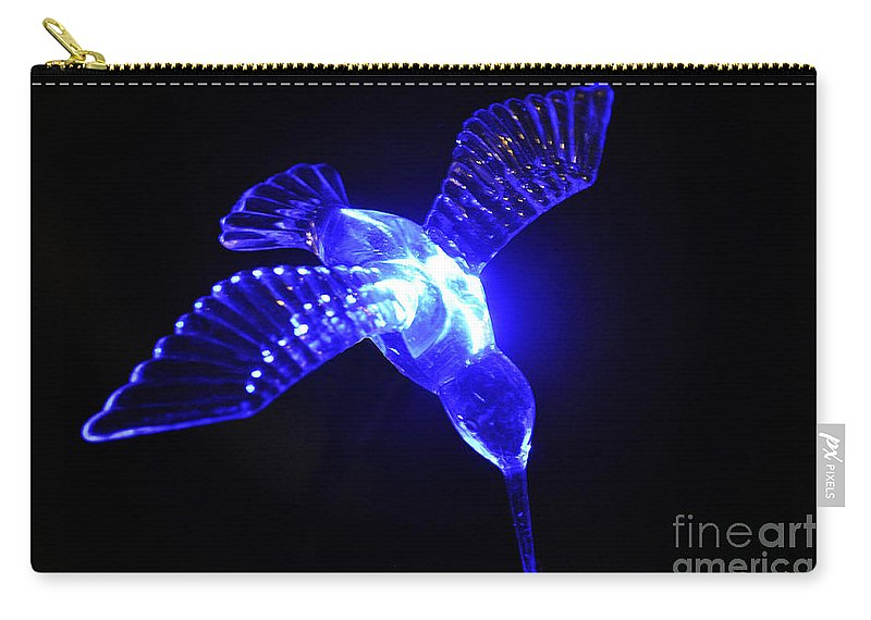 Clay Carry-all Pouch featuring the photograph Humming Bird Light by Clayton Bruster