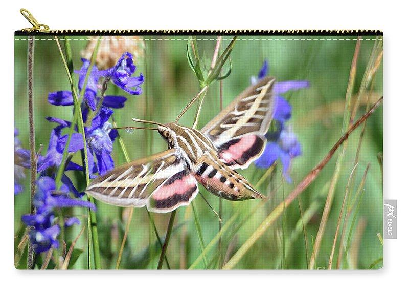 Hummingbird Carry-all Pouch featuring the photograph Hummingbird Moth by Brad Christensen