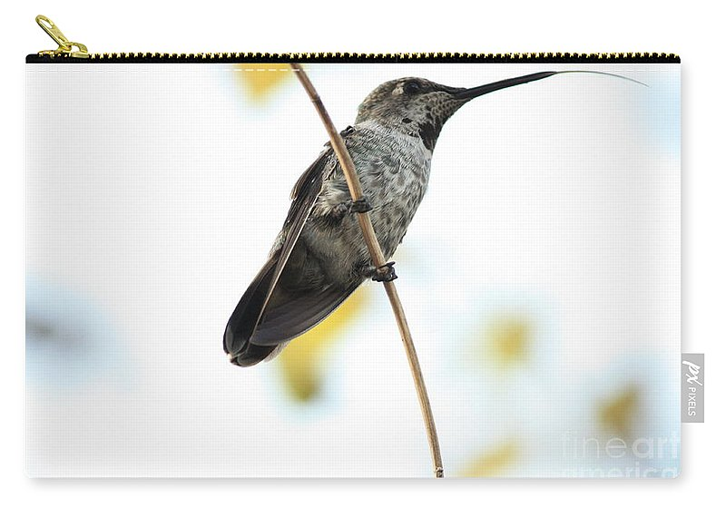 Hummingbird Carry-all Pouch featuring the photograph Hummingbird Tongue by Carol Groenen
