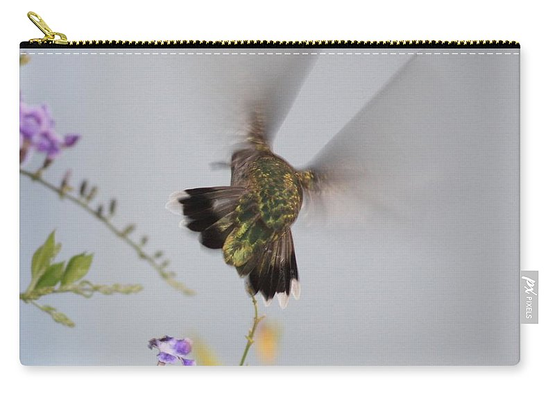 Digital Art Carry-all Pouch featuring the photograph Hummingbird Wings by Carol Groenen