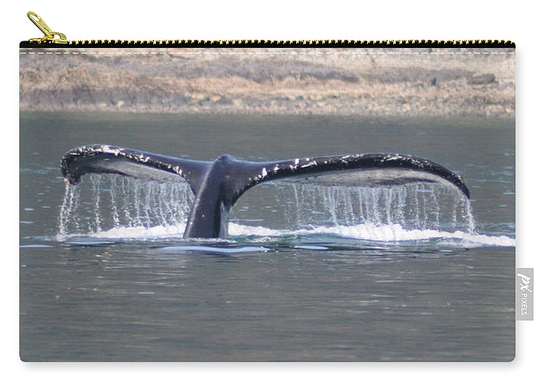 Humpback Carry-all Pouch featuring the photograph Humpback Whale Fluke by John Hughes