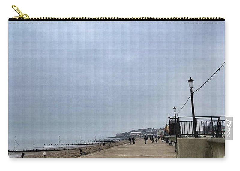Beautiful Carry-all Pouch featuring the photograph Hunstanton At 4pm Yesterday As The by John Edwards