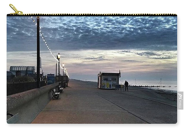 Beautiful Carry-all Pouch featuring the photograph Hunstanton At 5pm Today  #sea #beach by John Edwards