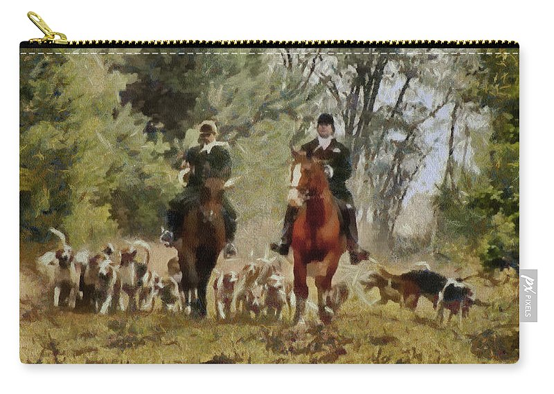 Hunting Dogs For Wild Boar Carry-all Pouch