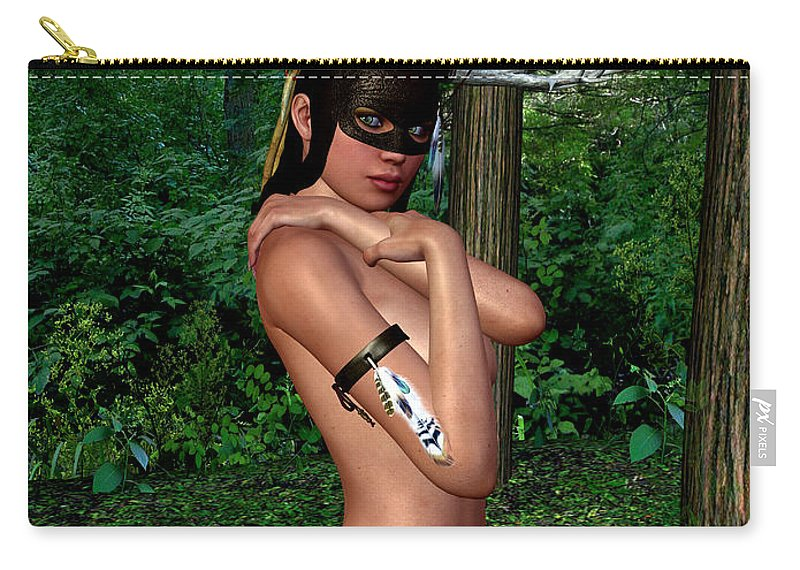 3d Carry-all Pouch featuring the digital art Hunting Season by Alexander Butler