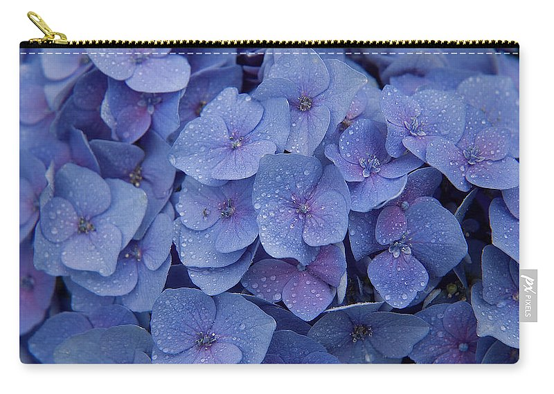 Flowers Carry-all Pouch featuring the photograph Hydrangea Flowers by Jerry McElroy