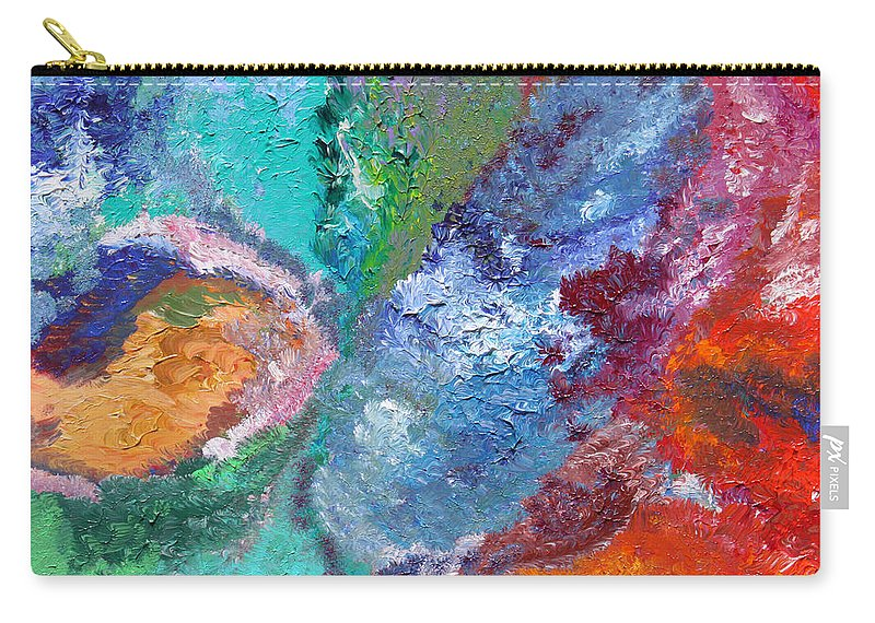Fusionart Carry-all Pouch featuring the painting Hydrangea by Ralph White