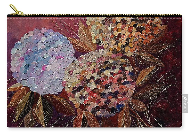 Flowers Carry-all Pouch featuring the painting Hydrangeas 880130 by Pol Ledent