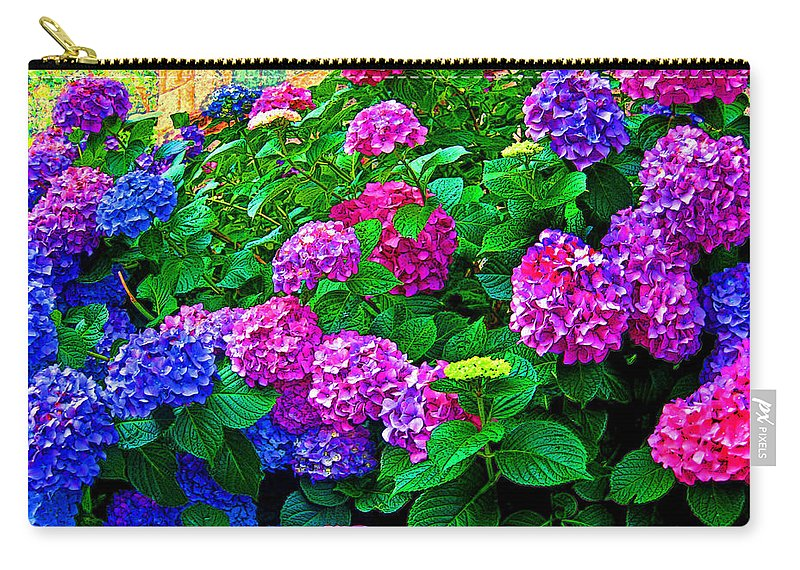 Hydrangeas Carry-all Pouch featuring the photograph Hydrangeas by Susie Slosberg