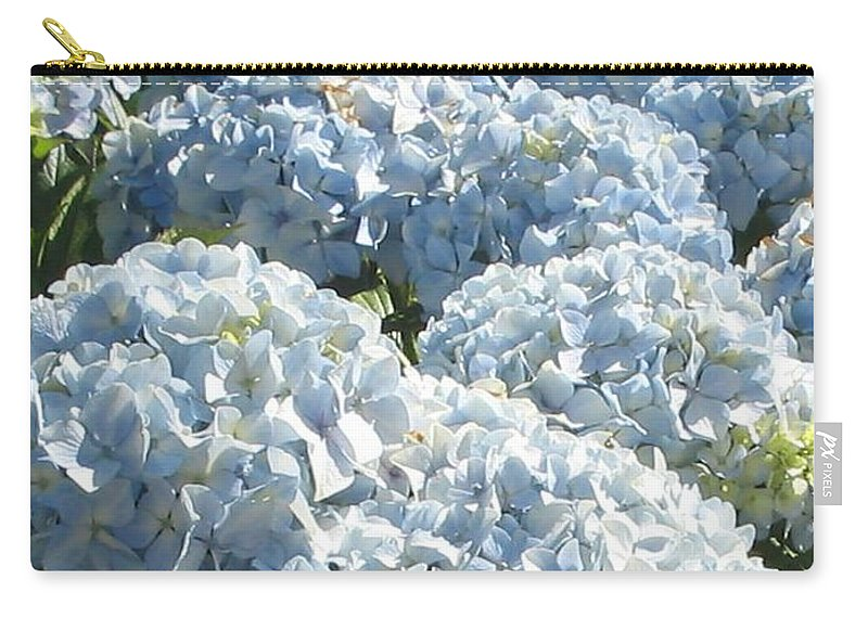 Blue Hydrangea Carry-all Pouch featuring the photograph Hydrangeas by Valerie Josi