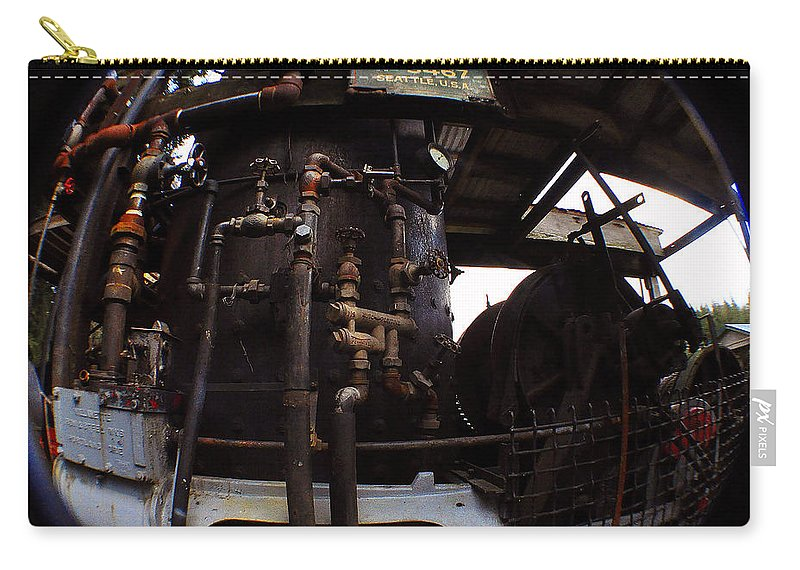 Clay Carry-all Pouch featuring the photograph Hydraulic-mechanical Managerie by Clayton Bruster
