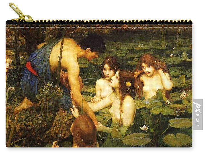 Pd Carry-all Pouch featuring the painting Hylas And The Nymphs by Pg Reproductions