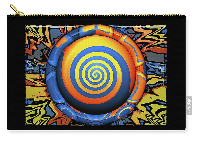 Abstract Carry-all Pouch featuring the digital art Hypnotrippery by Wendy J St Christopher