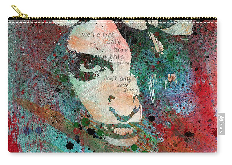Portrait Carry-all Pouch featuring the painting Hypothermia In A Halo by Marco Paludet