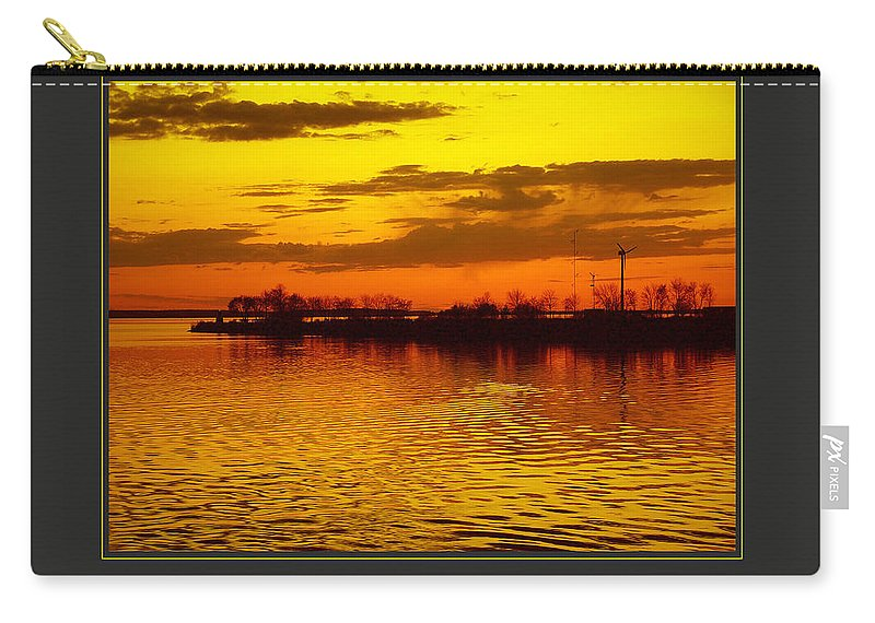 Motivational Carry-all Pouch featuring the photograph I Am Creative by Donna Corless