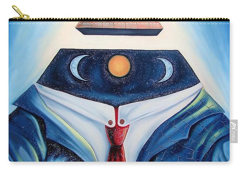 Surrealism Carry-all Pouch featuring the painting I Am by Darwin Leon