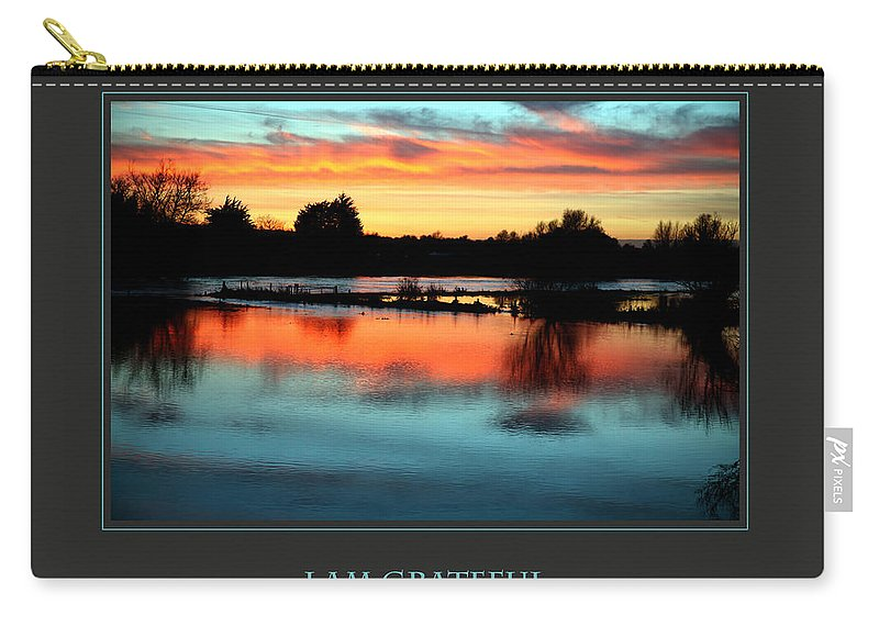 Motivational Carry-all Pouch featuring the photograph I Am Grateful by Donna Corless