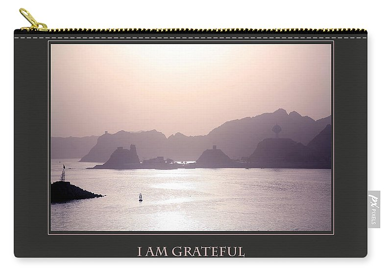 Motivational Carry-all Pouch featuring the photograph I Am Grateful For A New Beginning by Donna Corless