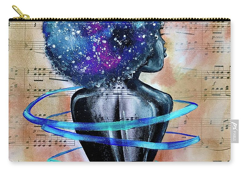 Space Carry-all Pouch featuring the painting I am her... She is Me by Artist RiA