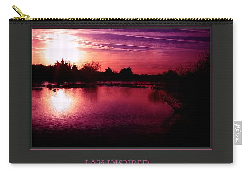 Motivational Carry-all Pouch featuring the photograph I Am Inspired And I Inspire Others by Donna Corless