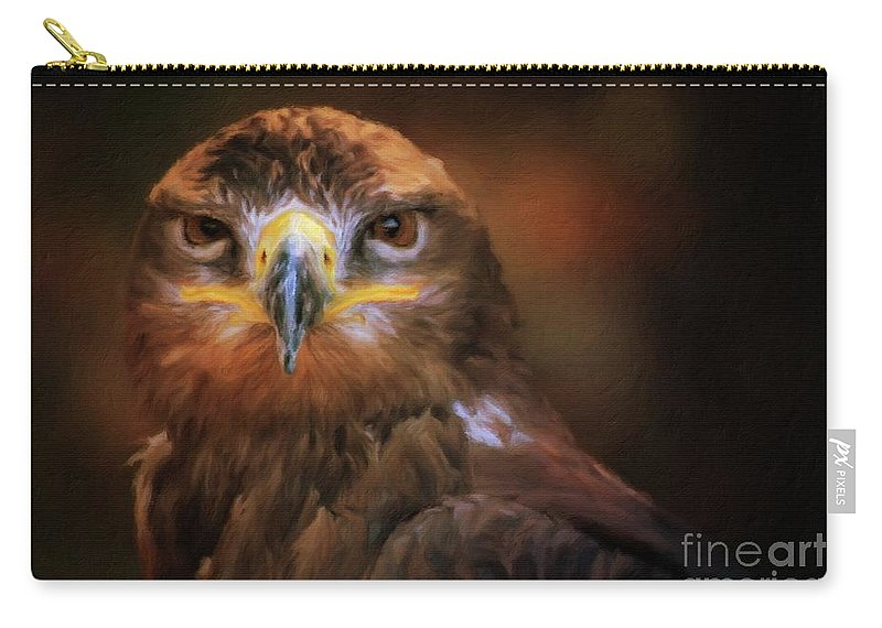 Bird Carry-all Pouch featuring the painting I Am Majesty by Sarah Kirk