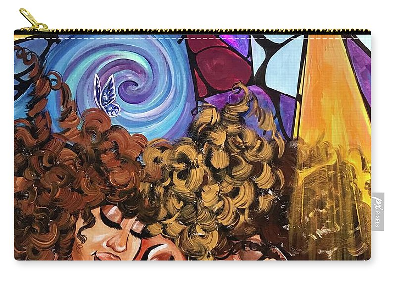 Sister Carry-all Pouch featuring the painting I am my sisters KEEPER by Artist RiA
